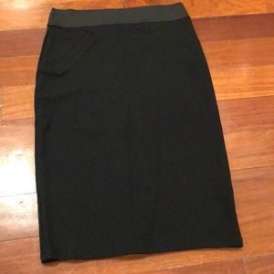 Dorothy Perkins Black Midi Pencil Skirt